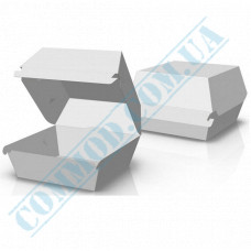 Hamburgers cardboard package 100*93*58mm white 100 pieces per pack