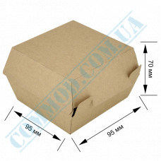 Cardboard packaging for burgers   95*95*70mm   craft   25 pieces per pack