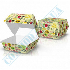 Hamburgers cardboard package 100*93*58mm light pattern 100 pieces
