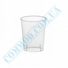 Glass-like glasses for vodka 40ml transparent 40 pieces per pack
