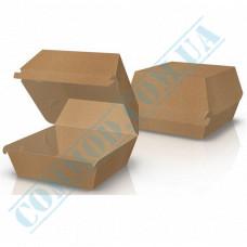 Hamburgers cardboard package 120*120*93mm Kraft 100 pieces per pack