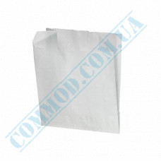 Paper bags sachet 105*100*40mm for French fries White 40g/m2 2000 pieces per pack article 97