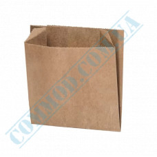 Paper bags sachet 105*100*50mm Kraft 70g/m2 for French fries fat-resistant 1000 pieces per pack article 933