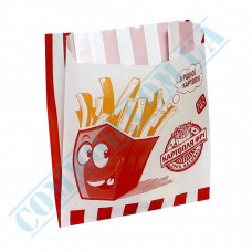 Paper bags sachets 140*120*50mm for french fries 70g/m2 fat-resistant 1000 pieces per pack article 1786