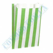 Paper bags sachets 160*120*50mm Green stripe 50g/m2 fat-resistant 1000 pieces per pack article 3706