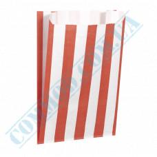 Paper bags sachet 160*120*50mm Red strip 50g/m2 fat-resistant 1000 pieces per pack article 3707