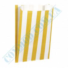 Paper bags sachet 170*120*50mm Yellow strip 70g/m2 fat-resistant 1000 pieces per pack article 253