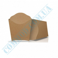 Cardboard package 68*85mm for French fries 90g Kraft 100 pieces per pack