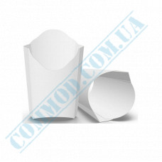Cardboard package 91*121mm for French fries 120g white 100 pieces per pack