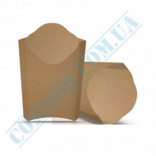 Cardboard package 91*121mm for French fries 120g kraft 100 pieces per pack