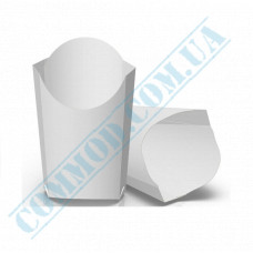 Cardboard package 106*145mm for French fries 265g white 100 pieces per pack