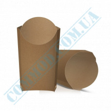 Cardboard package 106*145mm for French fries 265g kraft 100 pieces per pack