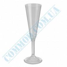 Glass-like champagne glasses 160ml Flute transparent 20 pieces per pack (Ǿ=56mm, h=250mm)