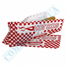 Paper corners 40g/m2 with drawing 200*85mm for Hot Dogs 500 pieces per pack article 248