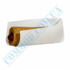 Paper corner 200*85mm White for a Hot Dog fat resistant 500 pieces article 1835