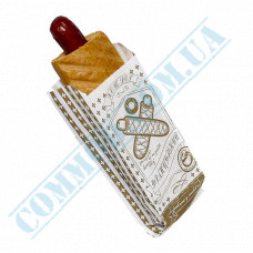 Paper bags sachet 170*70*40mm with a picture 40g/m2 for French Hot Dogs 1000 pieces per pack article 117