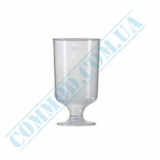 Glass-like glasses for vodka 100ml high transparent 16 pieces per pack
