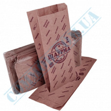 Paper bags sachet 220*90*50mm with a pattern 70g/m2 for Shawarma fat-resistant 1000 pieces per pack article 3784