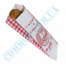 Paper sachets 270*100*50mm with a picture 50g/m2 for Shawarma 1000 pieces per pack article 244
