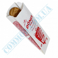 Paper bags sachet 270*100*50mm with picture 50g/m2 for Doner Kebab 1000 pieces per pack article 295