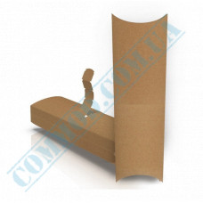 Cardboard package for shawarma and hot dogs 222*76*31mm kraft 100 pieces per pack