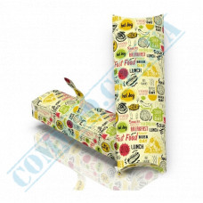 Cardboard package for shawarma and hot dogs 222*76*31mm light pattern 100 pieces per pack