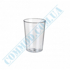Glass-like glasses for vodka 100ml transparent 50 pieces per pack