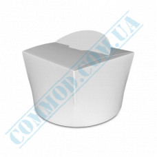 Packaging paper containers for noodles WOK 350ml white 100 pieces