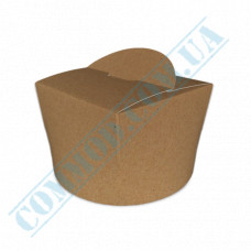 Packaging paper containers for noodles WOK 350ml kraft 100 pieces