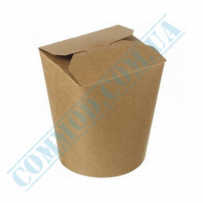Packaging paper containers for noodles WOK 500ml kraft 100 pieces