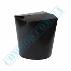 Packaging paper containers for noodles WOK 500ml black 100 pieces