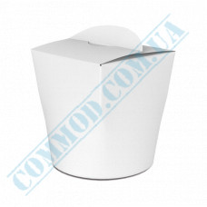 Packaging paper containers for noodles WOK 600ml white 100 pieces