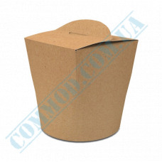 Packaging paper containers for noodles WOK 600ml kraft 100 pieces