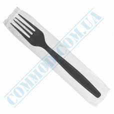 Wrapped table forks 160mm black 100 pieces