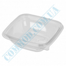 Plastic containers   250ml   126*126*38mm   transparent   with lid   for hot meals   50 pieces per pack
