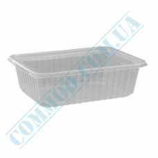 Plastic containers   500ml   179*132*37mm   transparent   with lid   for hot meals   50 pieces per pack