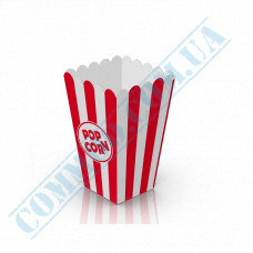Paper containers | 700ml | 137*85*85mm | for popcorn | square | 50 pieces per pack