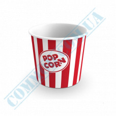 Paper containers | 700ml | Ǿ=114mm h=108mm | for popcorn | round | 50 pieces per pack