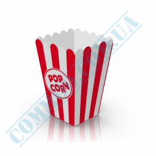 Paper containers | 1000ml | 147*95*95mm | for popcorn | square | 50 pieces per pack