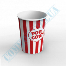 Paper containers | 1000ml | Ǿ=117mm h=145mm | for popcorn | round | 50 pieces per pack