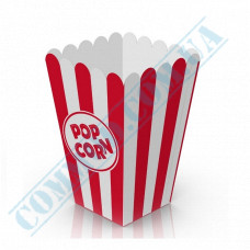 Paper containers | 1500ml | 164*110*110mm | for popcorn | square | 50 pieces per pack
