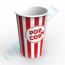 Paper containers | 1500ml | Ǿ=120mm h=180mm | for popcorn | round | 50 pieces per pack