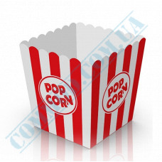 Paper containers | 2500ml | 167*140*140mm | for popcorn | square | 50 pieces per pack