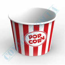 Paper containers | 2500ml | Ǿ=166mm h=143mm | for popcorn | round | 50 pieces per pack
