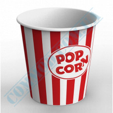 Paper containers | 4000ml | Ǿ=178mm h=200mm | for popcorn | round | 25 pieces per pack