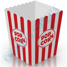 Paper containers | 5000ml | 207*173*173mm | for popcorn | square | 25 pieces per pack