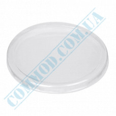 Plastic flat translucent heat-resistant lids for containers V24 700ml 50 pieces