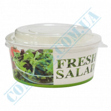 Paper containers 750ml for salad Fresh Salad with transparent lid 50 pieces
