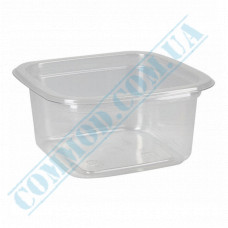 Plastic PET transparent containers 200ml 93*93*48mm for salad with a transparent lid 50 pieces