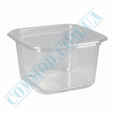 Plastic PET transparent containers 250ml 93*93*58mm for salad with a transparent lid 50 pieces
